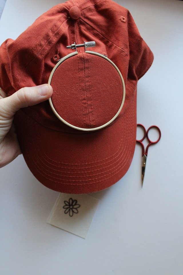 how to hoop a hat for embroidery