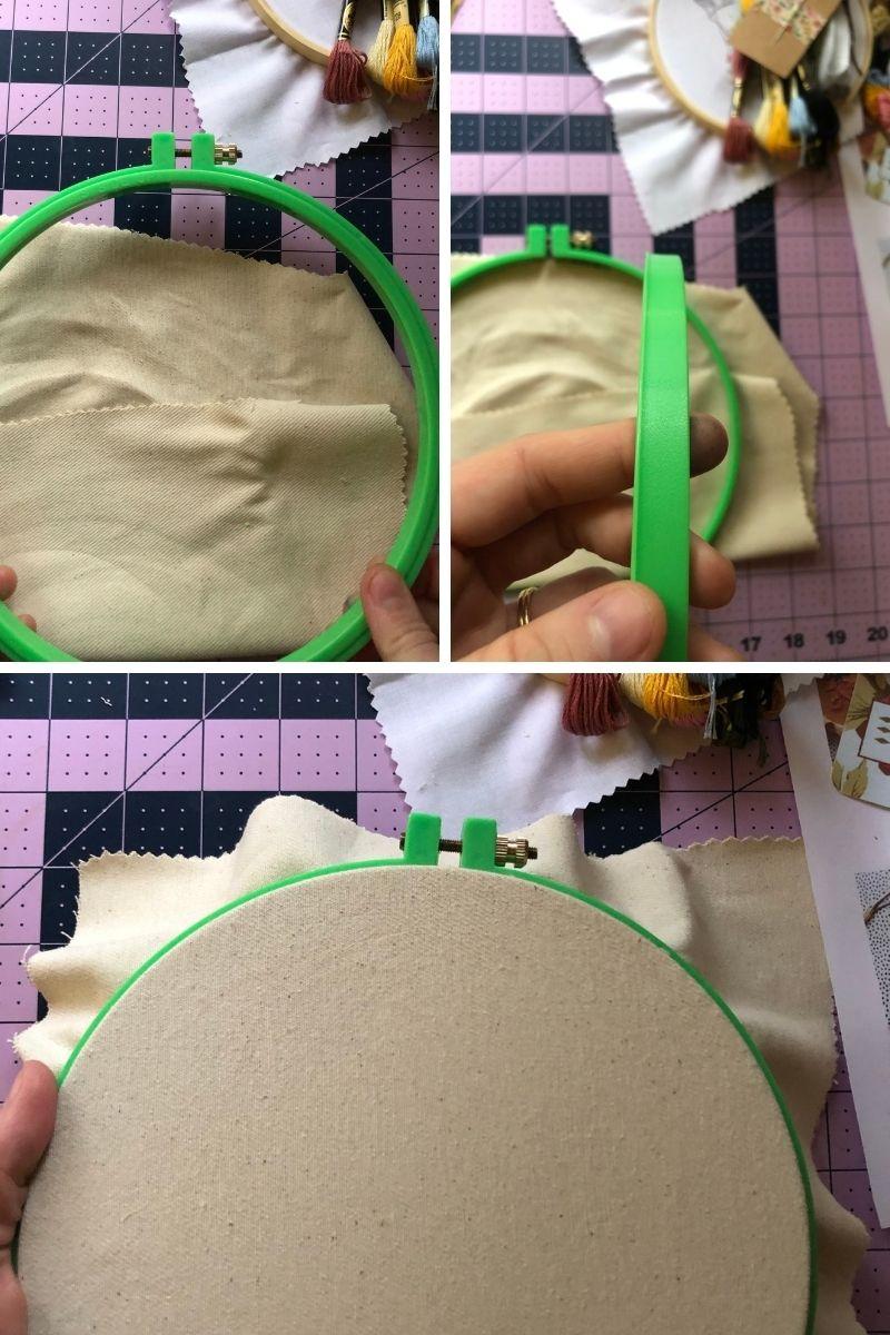 plastic embroidery hoop