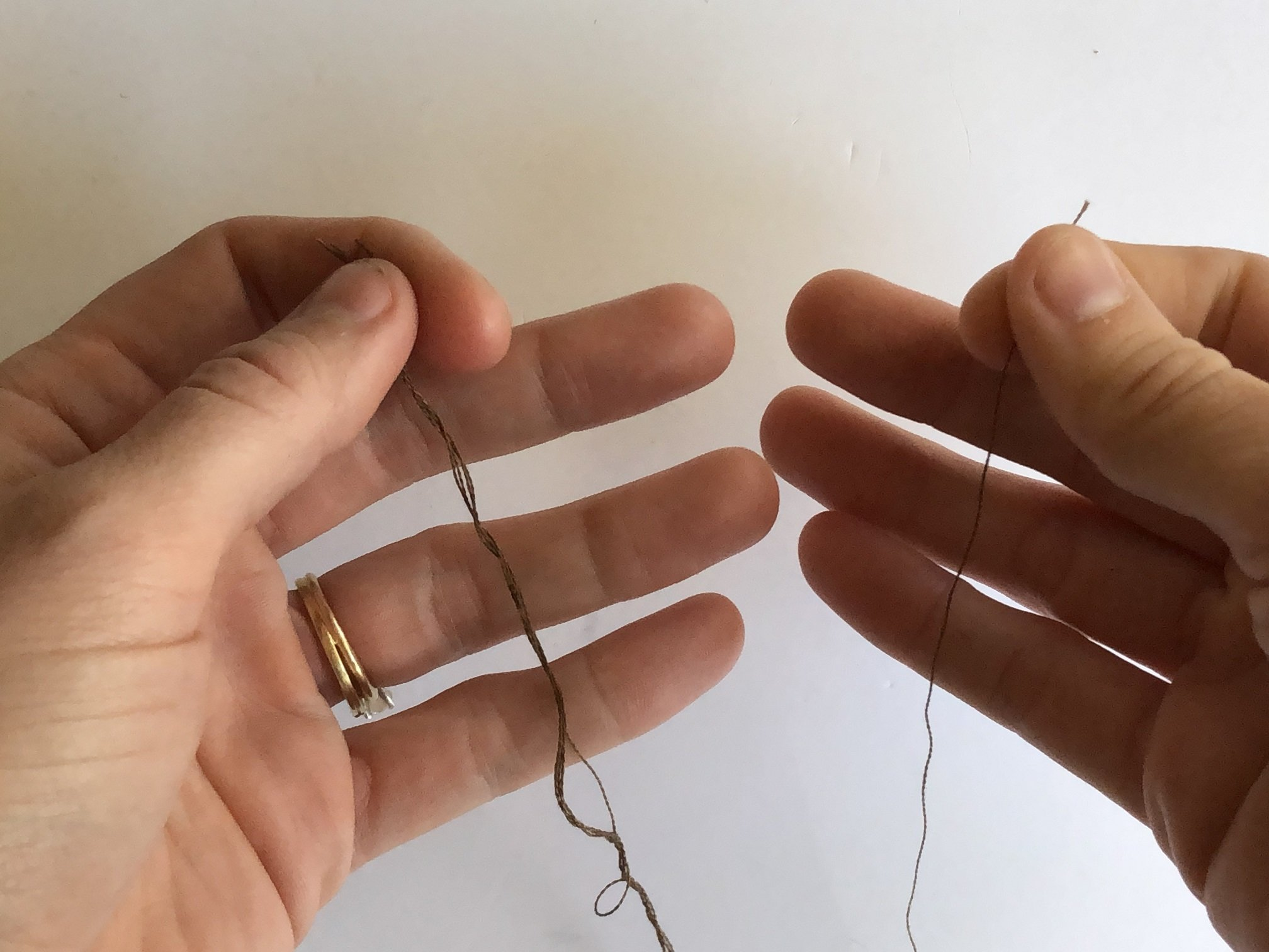 easy way to separate embroidery thread
