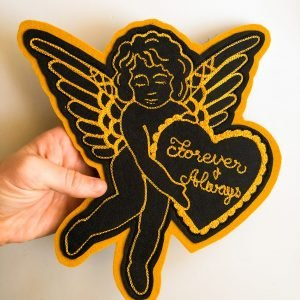 custom cupid with heart patch