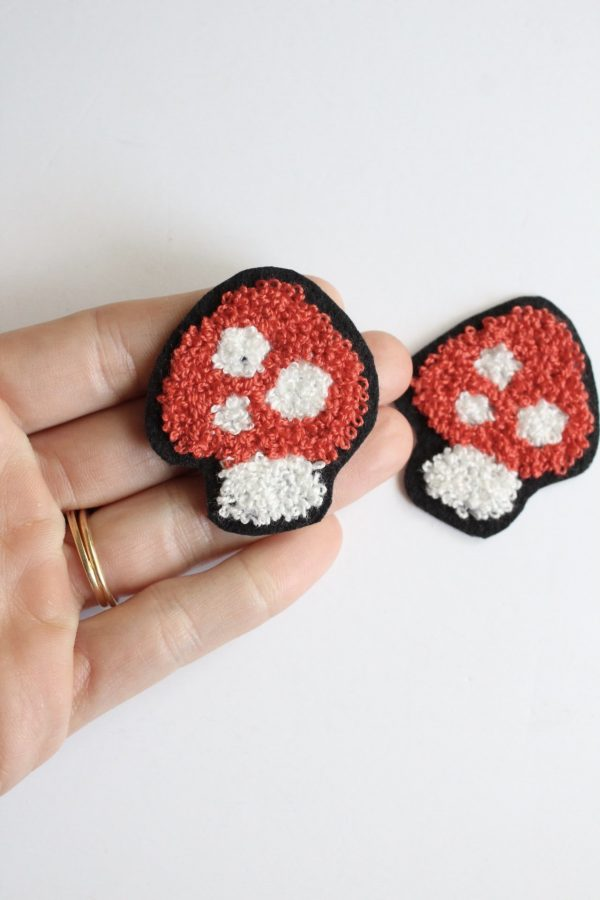 chenille mushroom patch