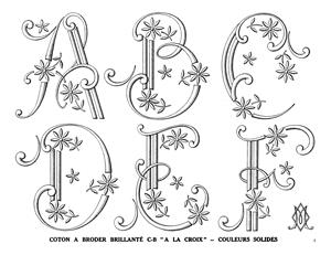 decorative embroidery letters