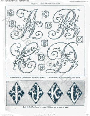 hand embroidery monogram patterns free