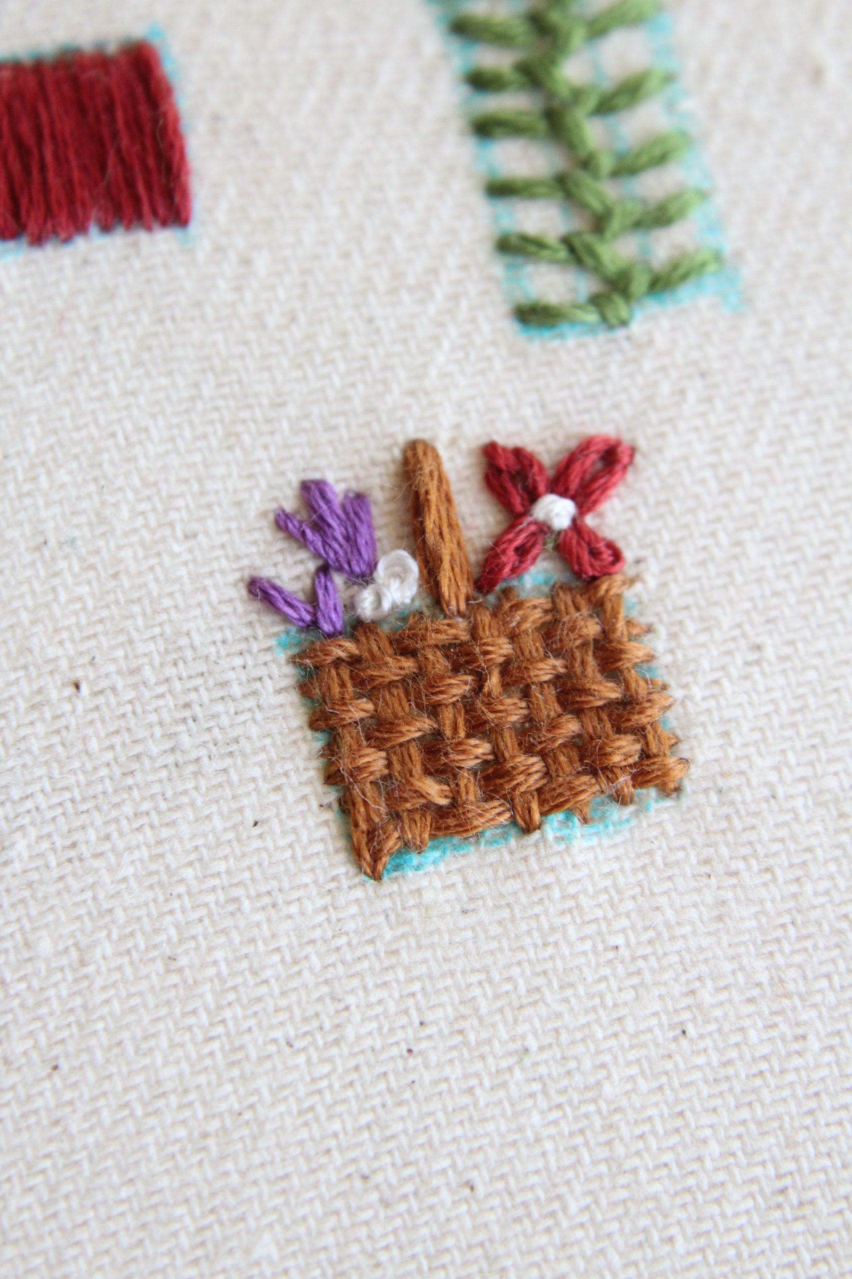 Basket Weave Embroidery Stitch + Basket Embroidery Tutorial