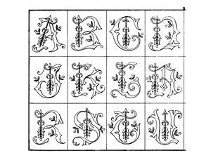 decorative embroidery monograms