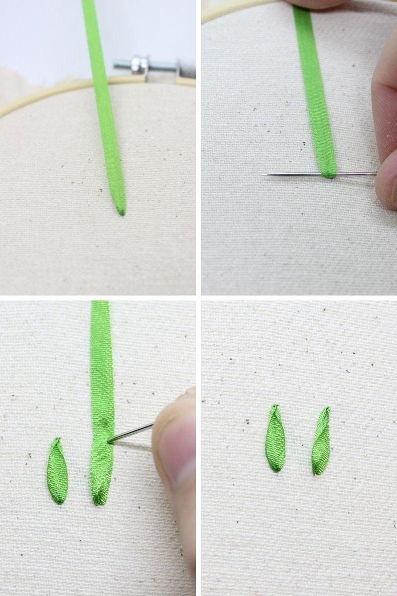 side ribbon stitch