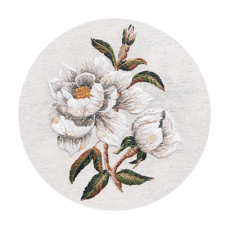 embroidered magnolia