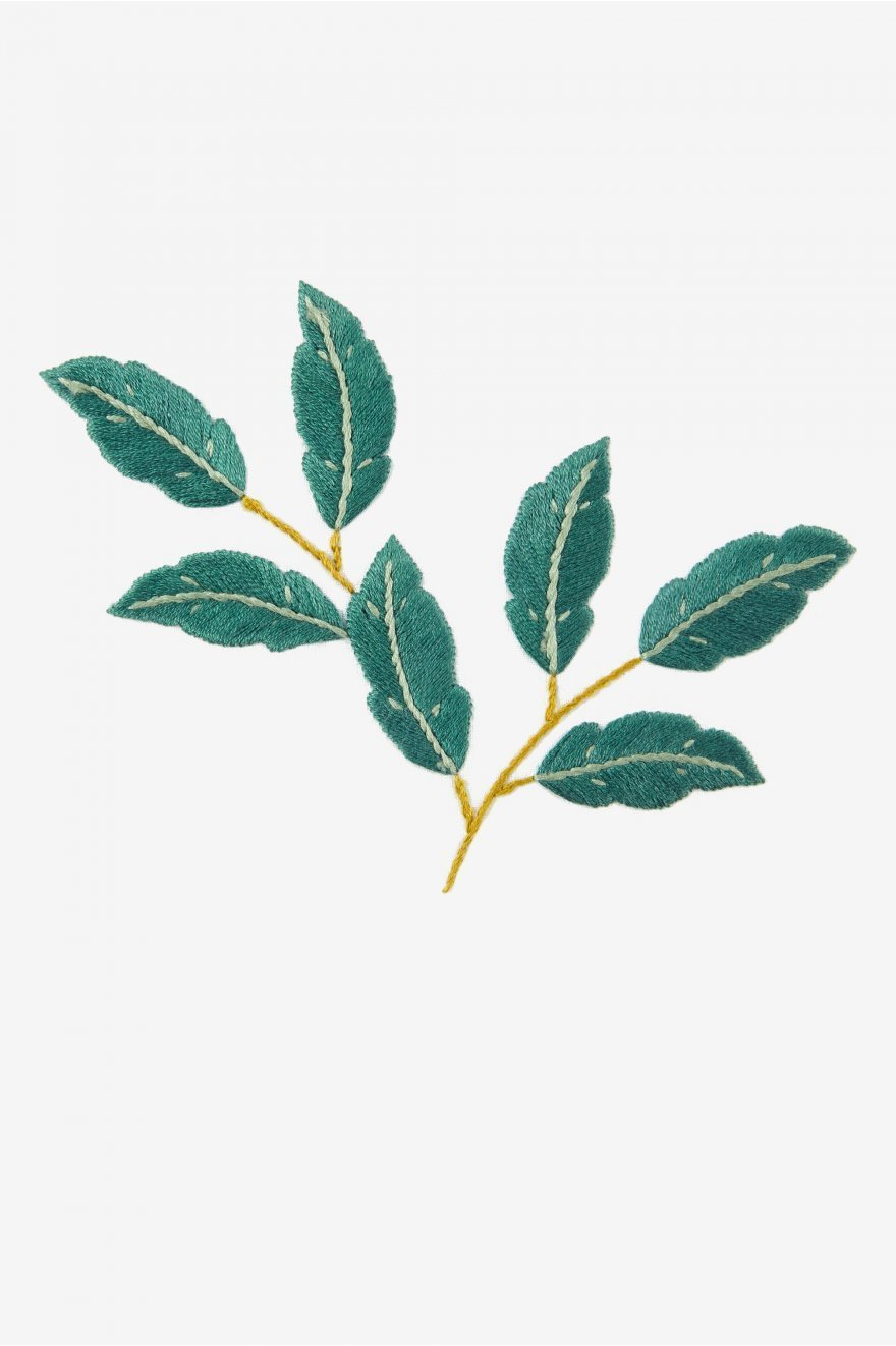 tropical branch embroidery