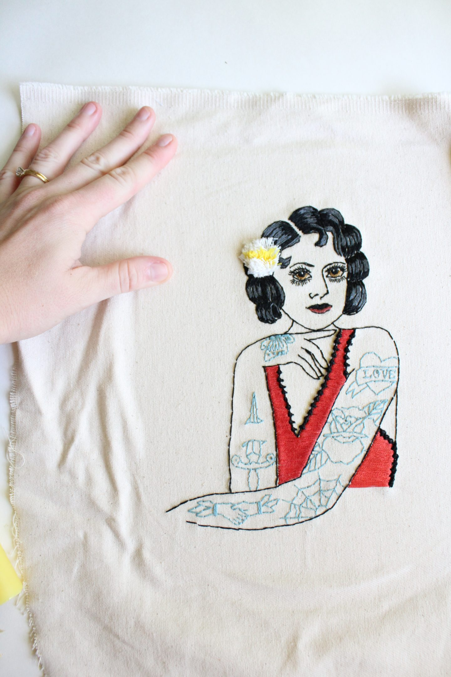 how to frame embroidery artwork
