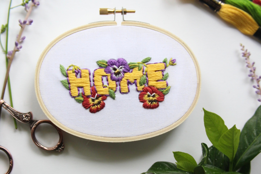 home pansy flower pattern