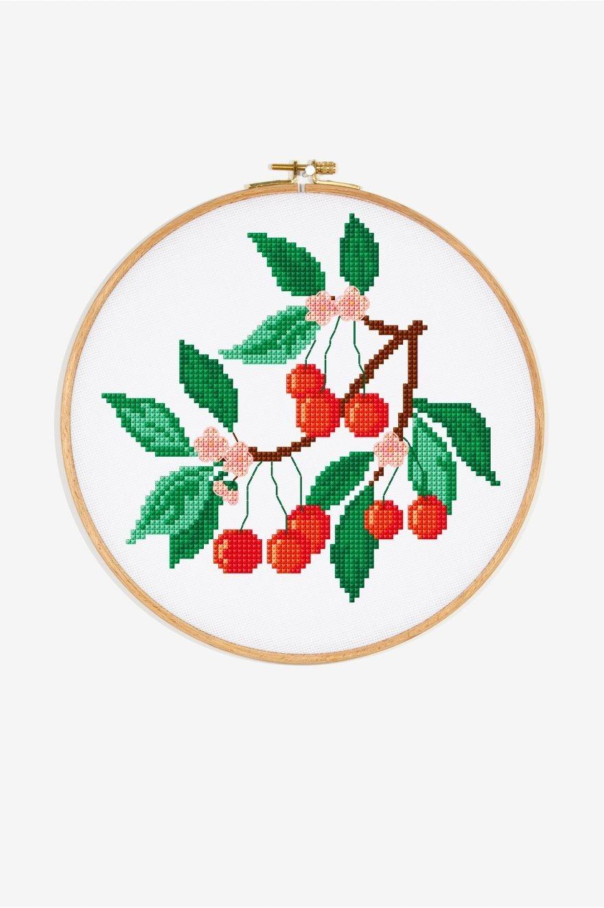 free cross stitch patterns to download - cherry pattern